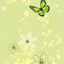 цветы с бабочкой 1 слой