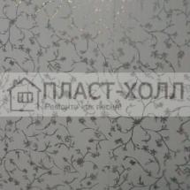 CS01127 цветочный узор серебро